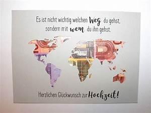 Idee Geldgeschenk Hochzeit : die besten 25 geldgeschenk weltkarte ideen auf pinterest projektion mapping ~ Eleganceandgraceweddings.com Haus und Dekorationen