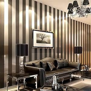 Wallpaper Modern Papel De Parede Roll 3D Paper Black And ...