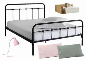 Chevet Metal Noir : 6 lits pour une jolie chambre joli place ~ Teatrodelosmanantiales.com Idées de Décoration