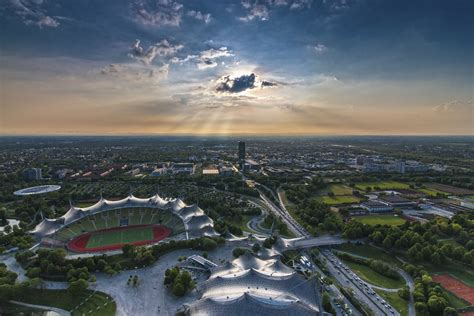View Of The Sky by Cityscape View And Sky Of Munich Germany Image Free