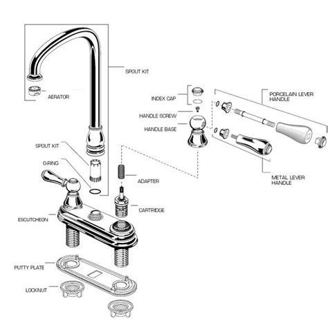 bathroom sink faucet repair parts 17 best ideas about kitchen faucet parts on pinterest