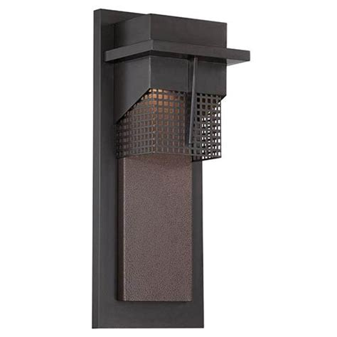 beacon burnished bronze 7 inch wide led outdoor wall