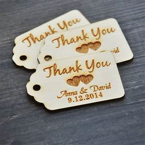 Personalized thank you wedding tags , custom Engraved