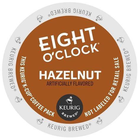 This coffee by eight o'clock coffee is delightfully sweet and quite a treat. Shop Eight O'Clock Coffee Hazelnut K-Cups for Keurig Brewers - Free Shipping On Orders Over $45 ...