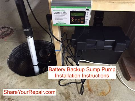 Battery Backup Sump Pump Installation Instructions French Country Table Vintage Lamps Asian Coffee Cheap Air Hockey Led Light Steam Pan Downdraft Architects
