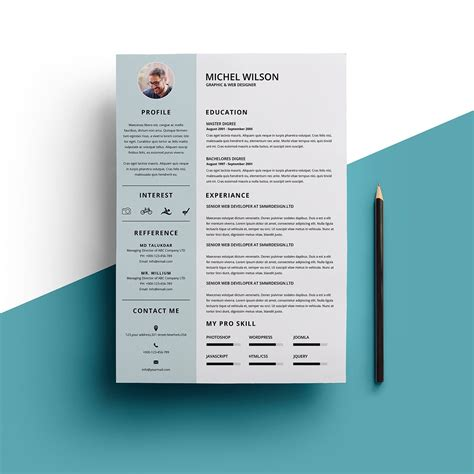 Resume Creator Script by Minimal Resume Resume Templates Creative Market