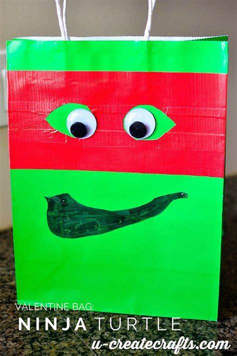 minute ninja turtle valentine bag