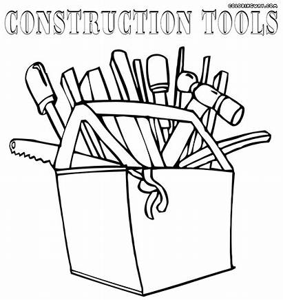 Construction Pages Coloring Tools Drawing Getdrawings