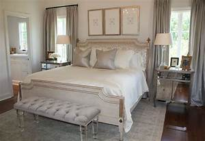 elegant master bedroom, love the sheen of the pillows with ...