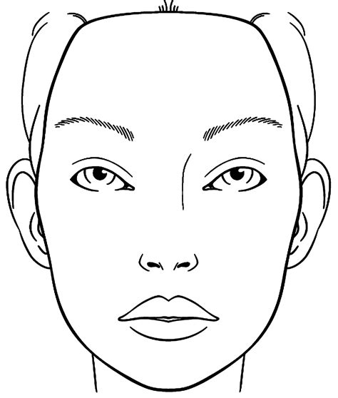 makeup face coloring pages printable coloring  kids