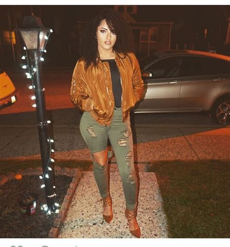 Jacket jeans ripped jeans skinny jeans heels outfit outfit idea fall outfits olive green ...