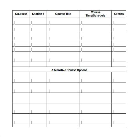student schedule template 9 sle class schedules sle templates