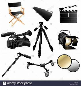 Drawing Camera Film Movie Equipment Cut Out Stock Images ...