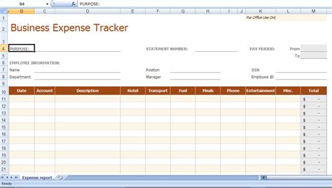 8 business expense tracker templates excel templates
