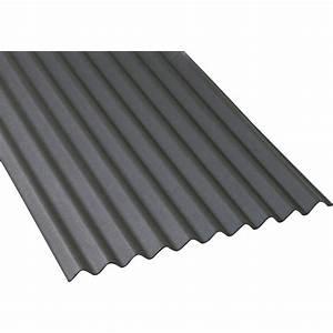 Plaque Ondulée Pour Toiture : plaque ondul e bitum e noir x 2m iko leroy merlin ~ Premium-room.com Idées de Décoration