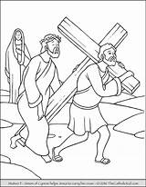 Coloring Stations Cross Catholic Kid Pdf sketch template