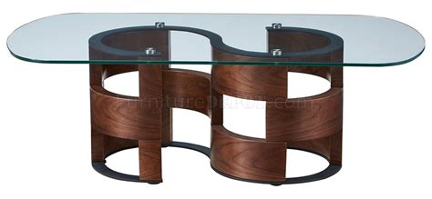 heavy coffee table 1601 coffee table in walnut by esf w glass top options 1601