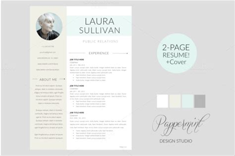 resume cover page templates  psd eps