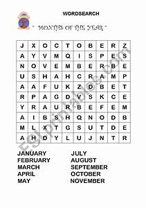 Wordsearch- Months Of The Year