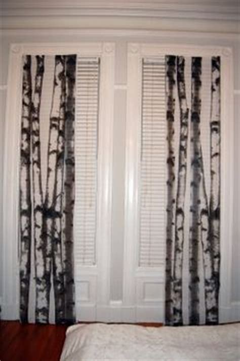 How To Replace Closet Doors by Birch Tree Curtains As Closet Doors Our House Is A Very