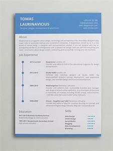 minimal resume word template With free minimalist resume template word