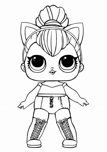 Lol Coloring Dolls Pages Doll Sheets Kitty