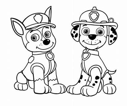 Paw Chase Patrol Coloring Pages