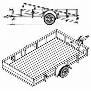6 U20194 U2033 X 10 U2032 Utility Tilt Trailer Plans  U2013 3 500 Lb Capacity