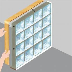poser des briques de verre mur With comment poser des carreaux de verre