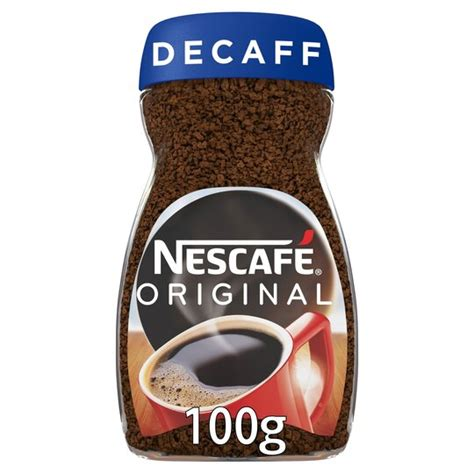 Monsieur coffee wanted to know and did some research. Nescafe Original Decaffeinated Coffee 100G - Tesco Groceries