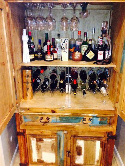 diy mini bar created   armoire diy furniture