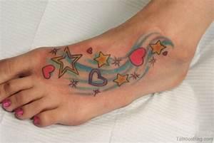84 Cute Star Tattoo On Foot