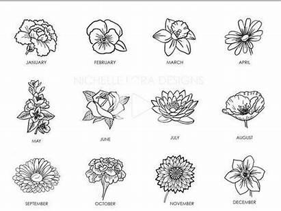 Birth Flower Tattoo Tattoos Month Gift Childs
