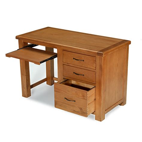 desk file cabinet oak dalby oak desk with filing cabinet