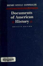 Documents of american history 1963 edition open library for Documents of american history commager