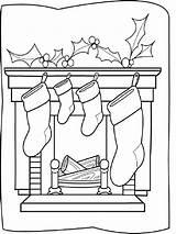 Coloring Chimneys Printable sketch template