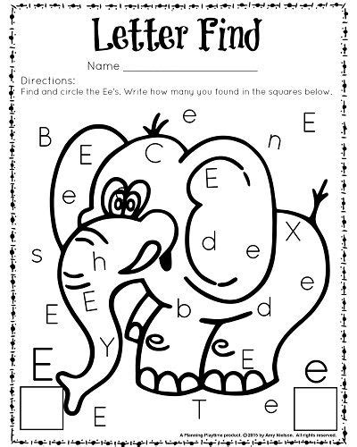 cute letter find worksheets with a freebie education