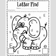Cute Letter Find Worksheets With A Freebie  Education  Pinterest  Worksheets, Kindergarten