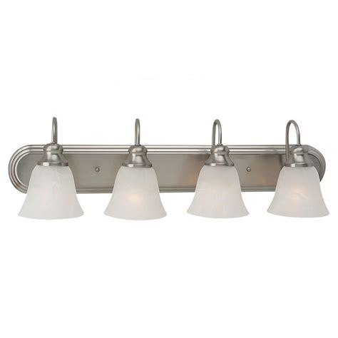 Home Depot Bathroom Vanity Light Fixtures by Sea Gull Lighting Windgate 4 Light Brushed Nickel Vanity