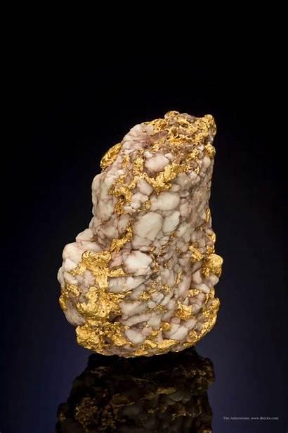 Gold Mineral Quartzsite Quartz Specimens Arizona Specimen