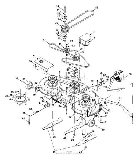 Deck Part Diagram by Mtd 13af673h131 2002 Parts Diagram For Deck Assembly Quot H Quot