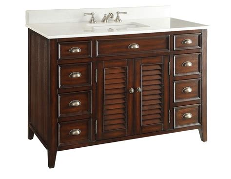 46 inch bathroom vanity 46 inch bathroom vanity louvered shutter doors style brown