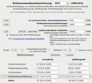 Grenzsteuersatz Berechnen : einkommensteuer hilfe verein ~ Themetempest.com Abrechnung