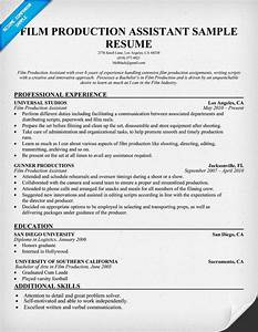 Film production resume resumecompanioncom resume for Film production resume