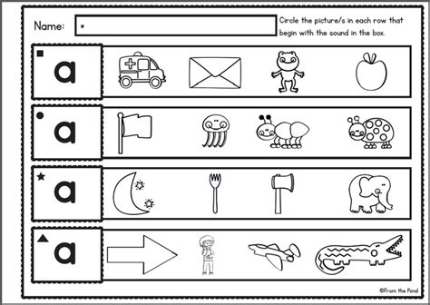 sound discrimination worksheets visual and letter sound discrimination 52 worksheets