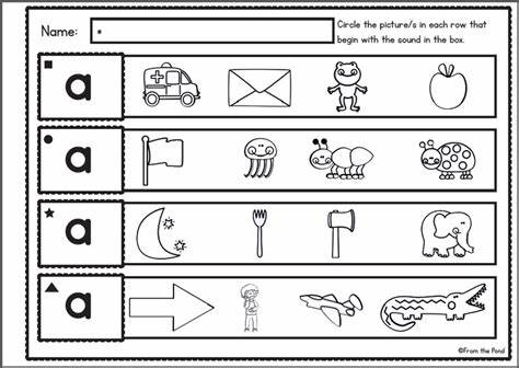 Music Tested In Kindergarten letter a sound worksheets for kindergarten