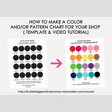 How To Make A Color Chart In Photoshop  Build A Bigger Online