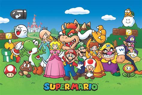 maxi poster super mario personajes  pro gameplanet