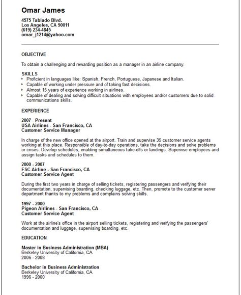 Airline Resume by Free Resume Templates Airline Pilot Hiring Exle In 87