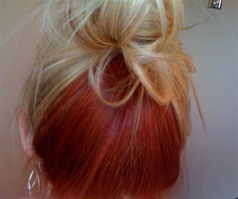Doing This In 2019 Blonde Hair Red Underneath Hair